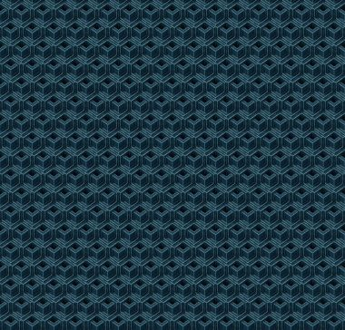 Abstract blue cubes. Seamless pattern background. 3d rendering