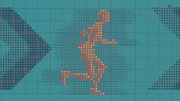 Nahtlose Schleifenanimation eines flach verlaufenden Punktemusters. 3d rendern 4k Uhd