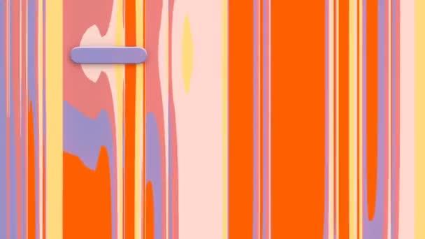 A geometriai objektumok a színes vonalak mozgó mintáját metszik. 3D hurok animáció