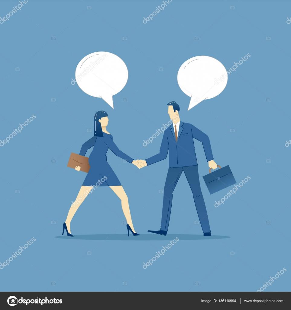 Business-Konzept-Vektor-Illustration von Geschäftsvereinbarung ...