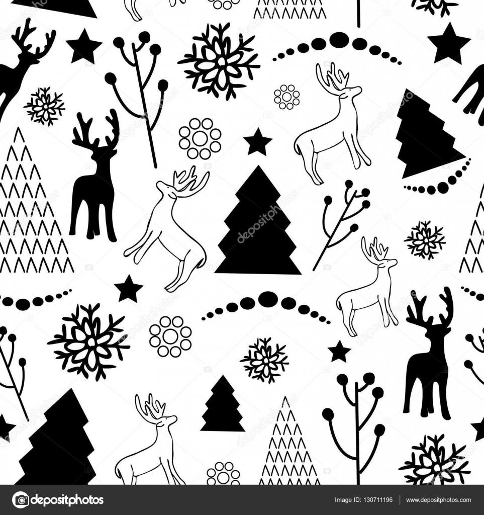 Weihnachten Schwarz Weiß Bilder.Weihnachten Muster Schwarz Weiß Stockvektor Chaos 08 Bk Ru