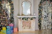 Vánoce a nový rok zařízený interiér pokoj