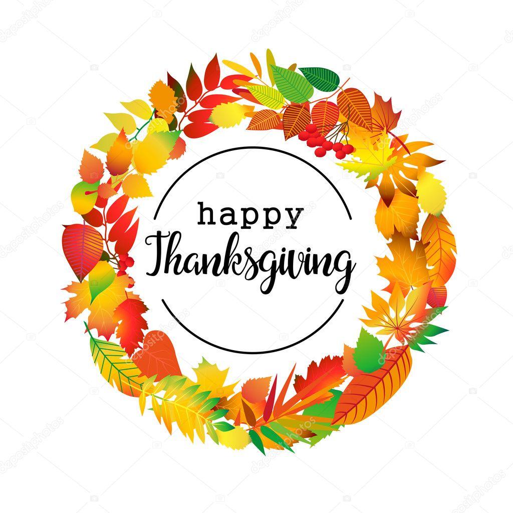 Happy Thanksgiving Day Logo Template Card Banner Flyer Vector Clip Art By Mskorchenko1805gmail