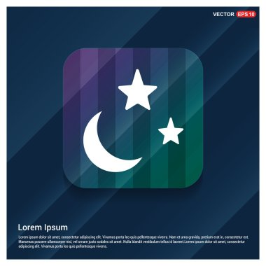 Weather icon with moon, stars. Vector Illustration clip art vector