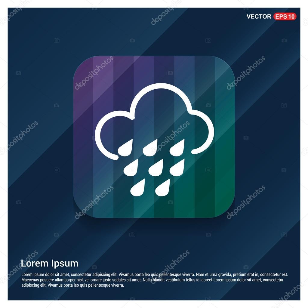 rain cloud icon