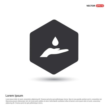 hand with water drop icon
