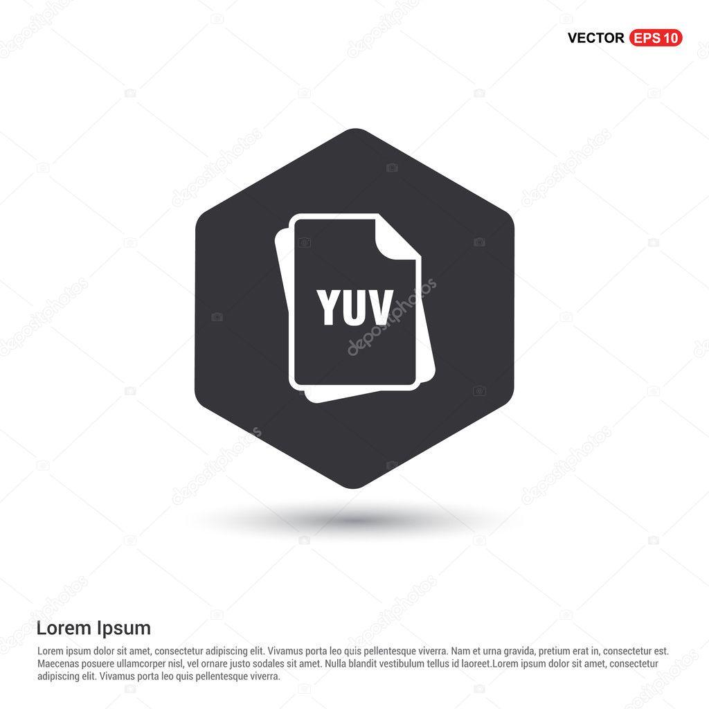 YUV file format icon — Stock Vector © ibrandify #126363530