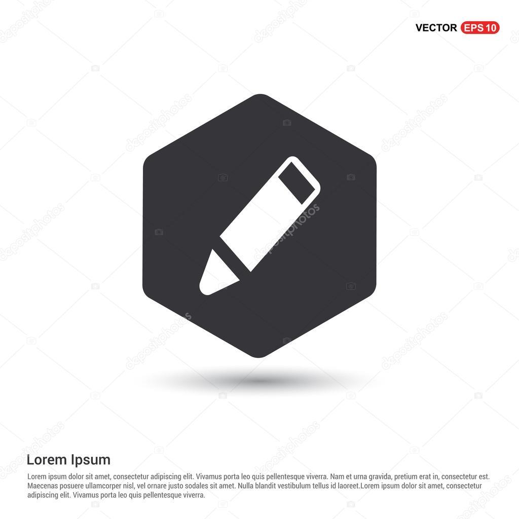 Icona della matita design piatto vettoriali stock for Design piatto