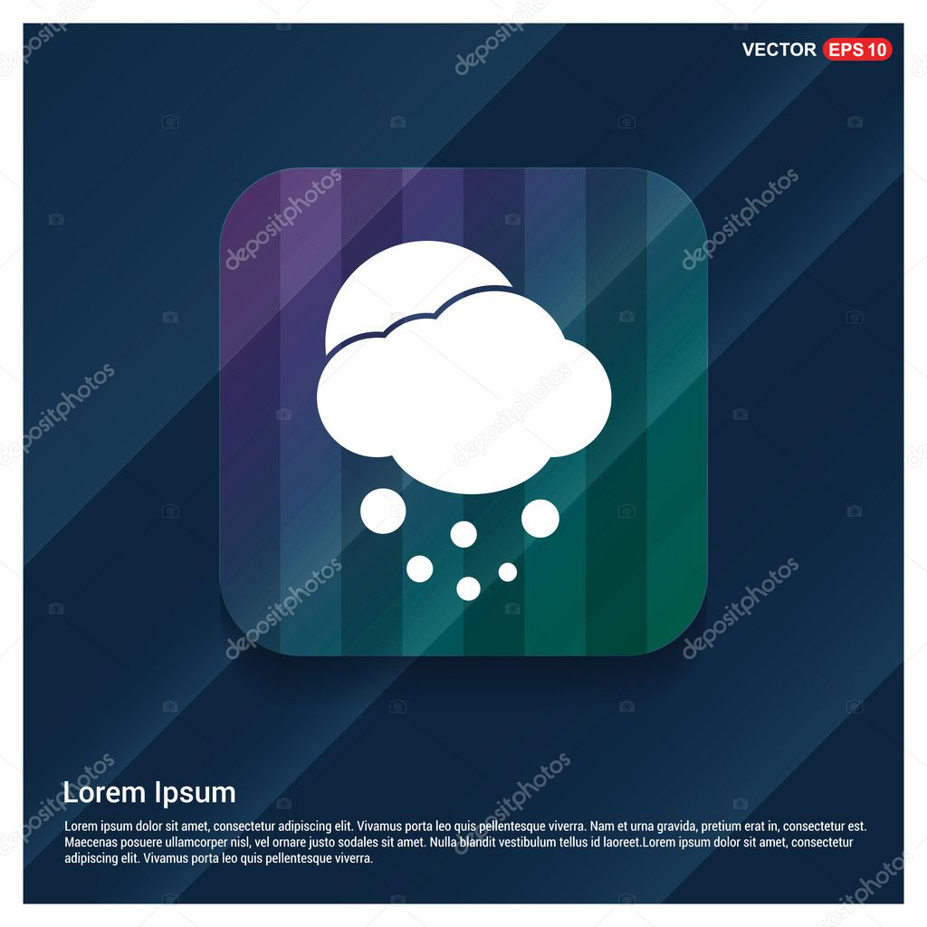 Sun and snowing Cloud Weather Icon