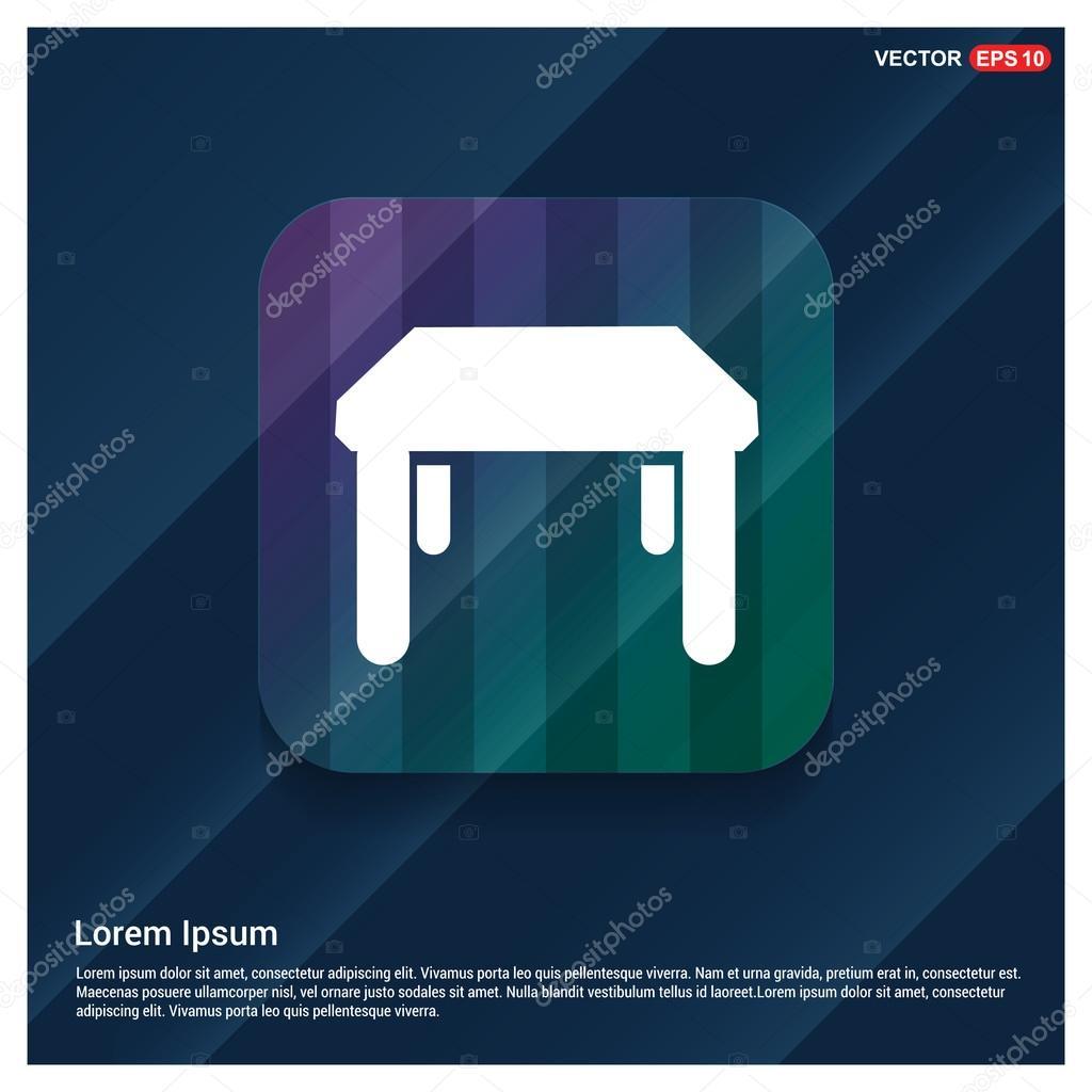 Küche-Tisch-Symbol — Stockvektor © ibrandify #126368230