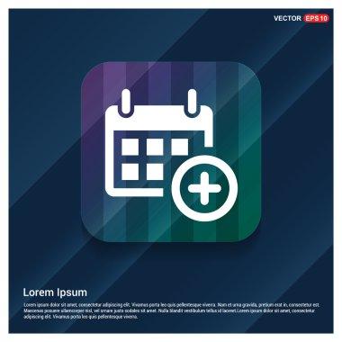 Calendar add date icon . vector illustration clip art vector