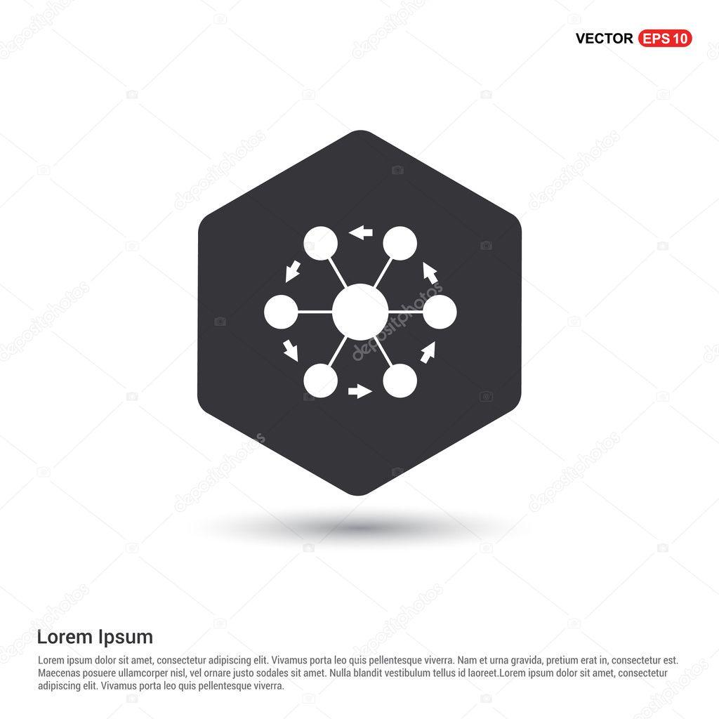 Projekt-Verbindungssymbol — Stockvektor © ibrandify #126382104