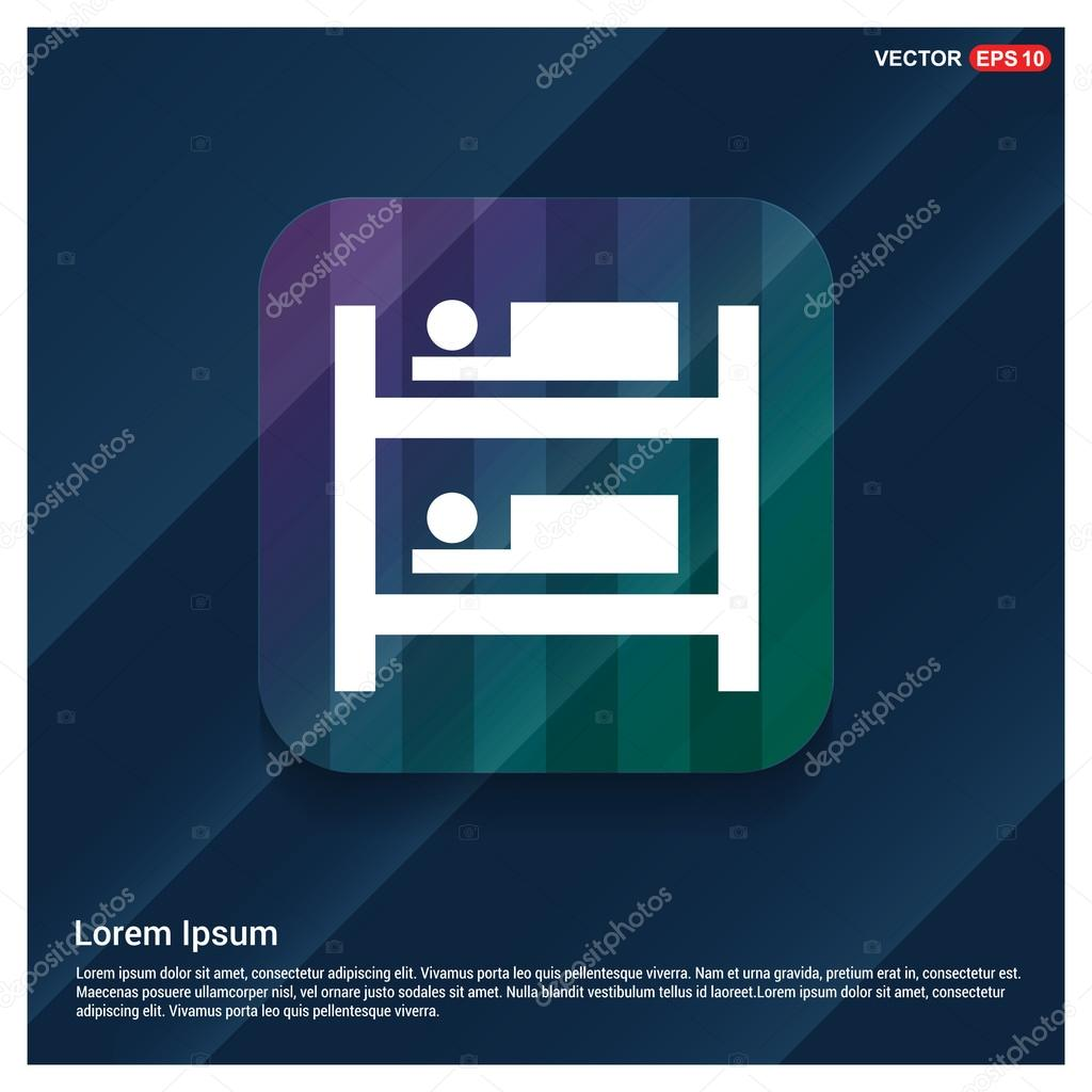 Hotel bed icon — Stock Vector