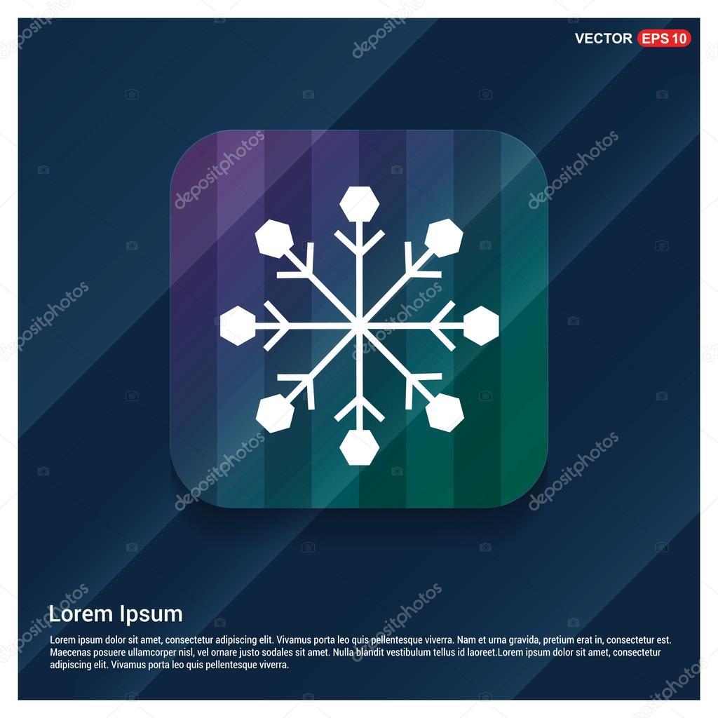 winter snowflake icon