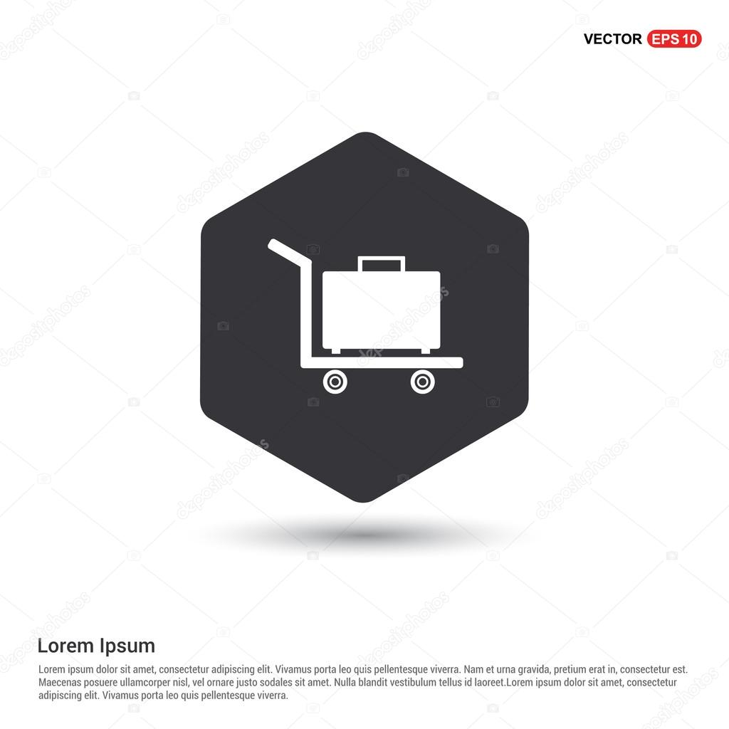 luggage bags on trolley Icon