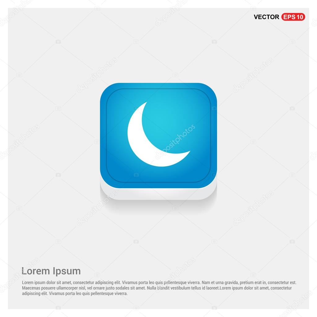Weather icon with moon