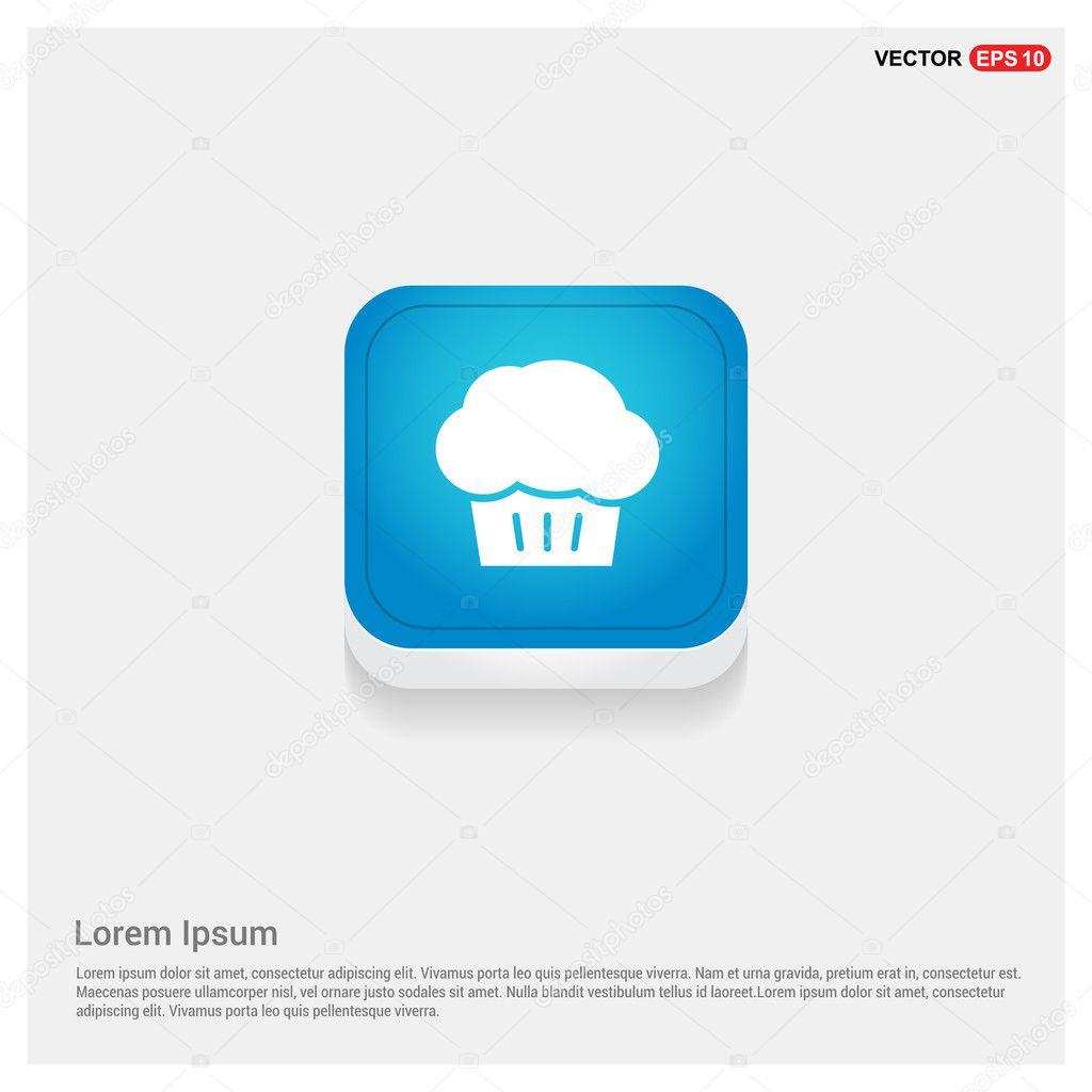 Cupcake muffin icon