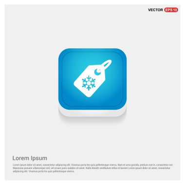 Price label with snowflake icon