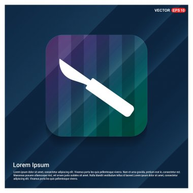 surgical lancet icon.