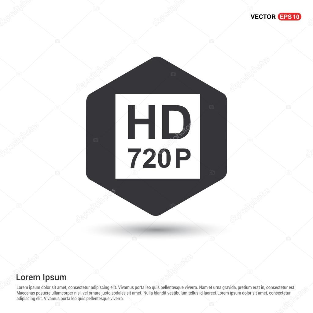 f1092a54bd8dc Icono de señal HD 720 p — Vector de stock