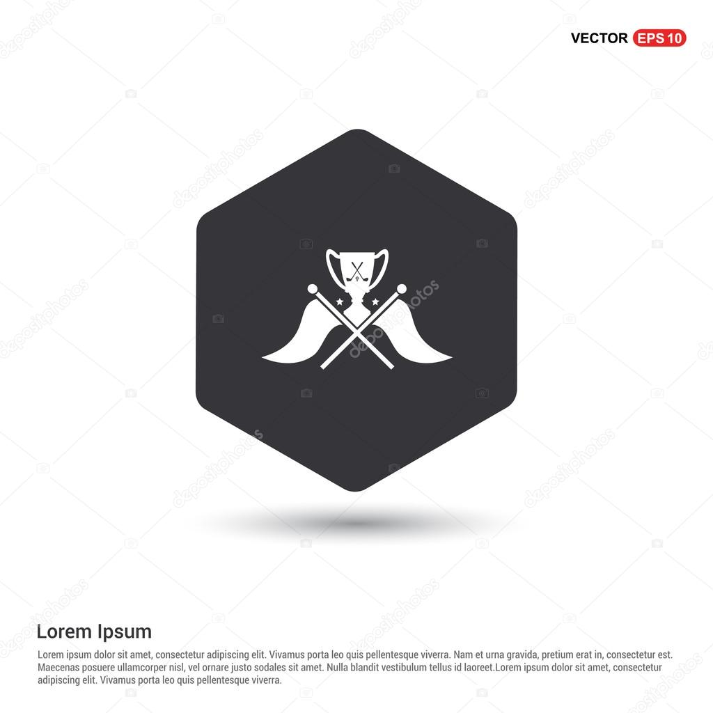 golf cup award icon