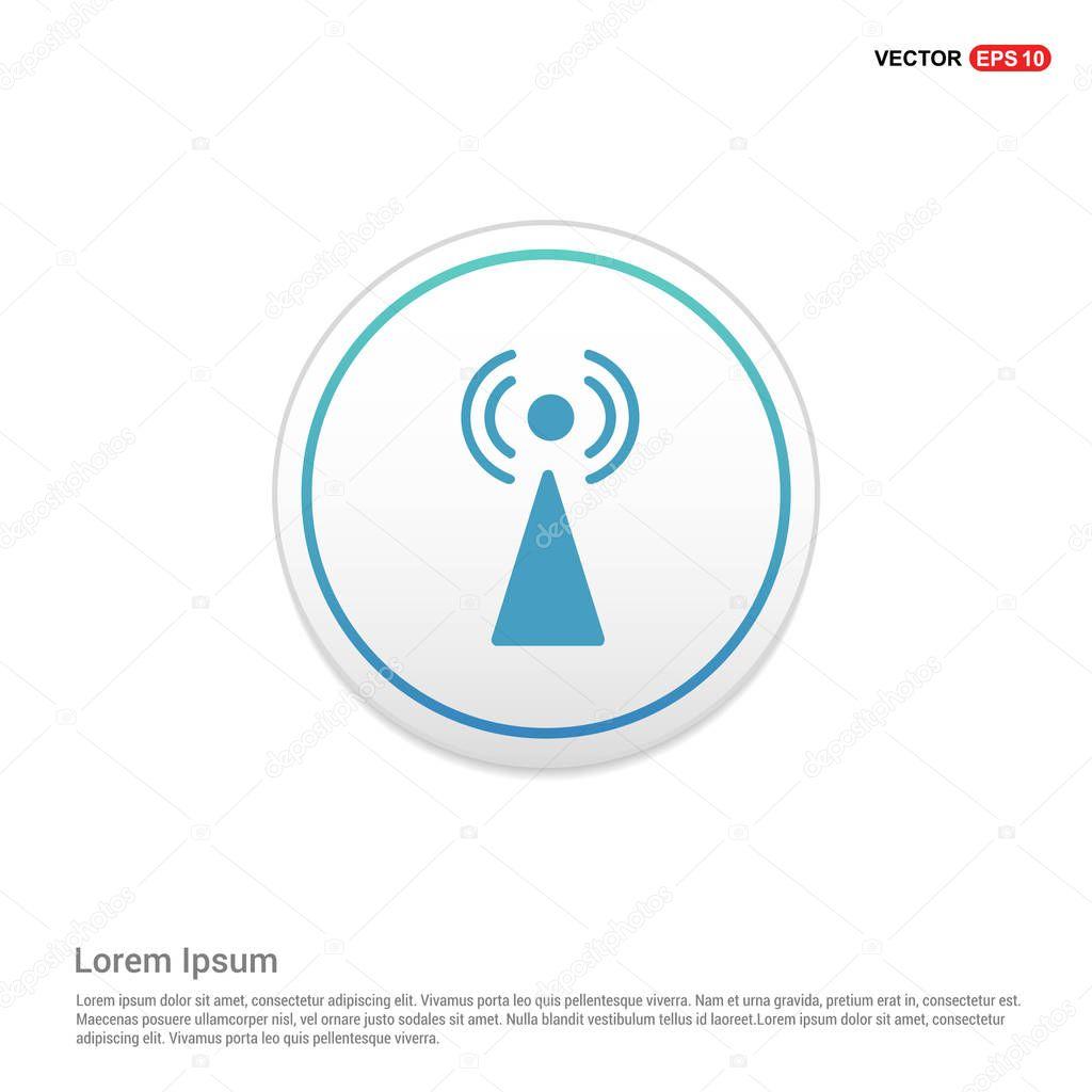 Antennensymbol Turm — Stockvektor © ibrandify #131573230