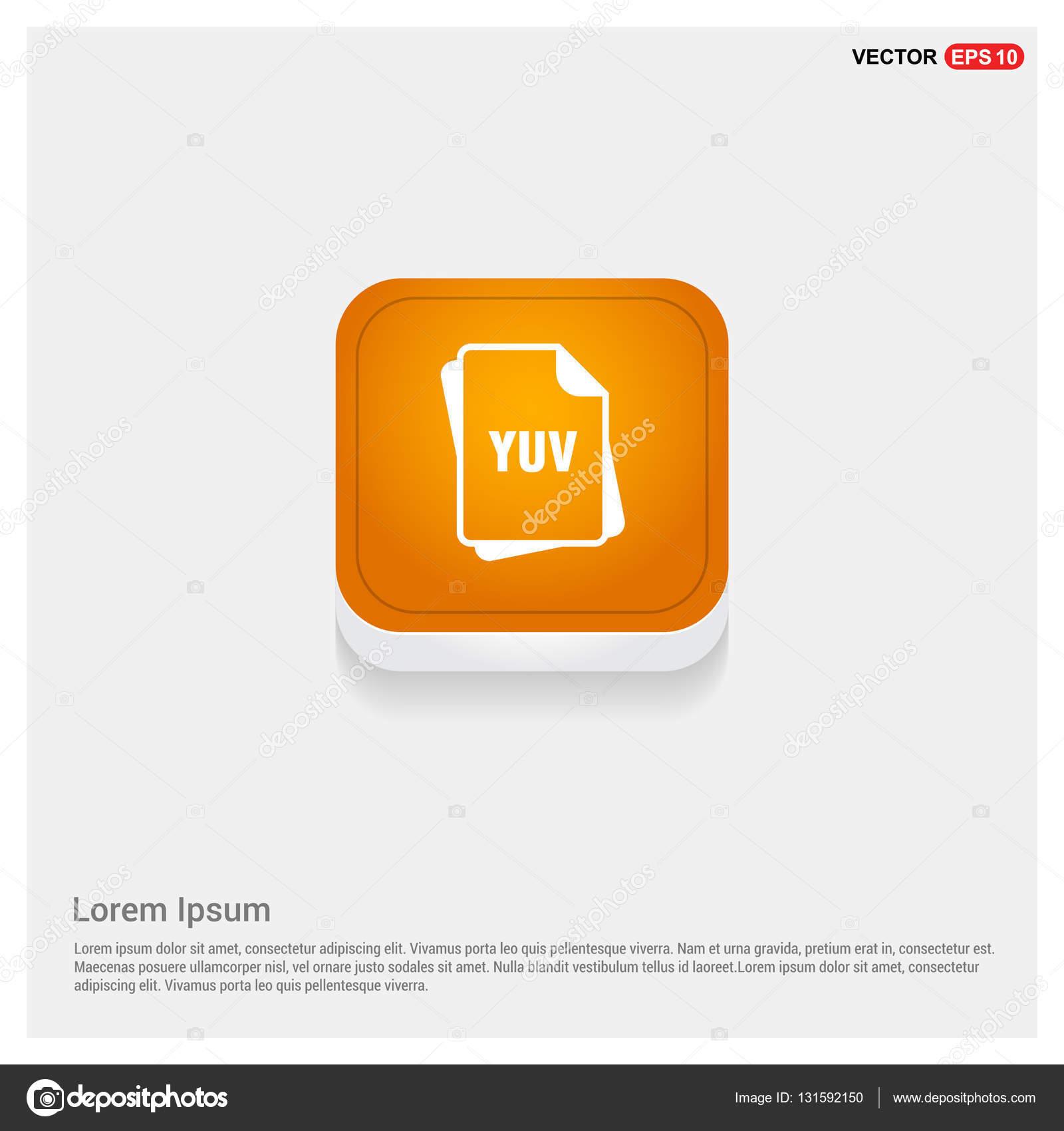 YUV file format icon — Stock Vector © ibrandify #131592150