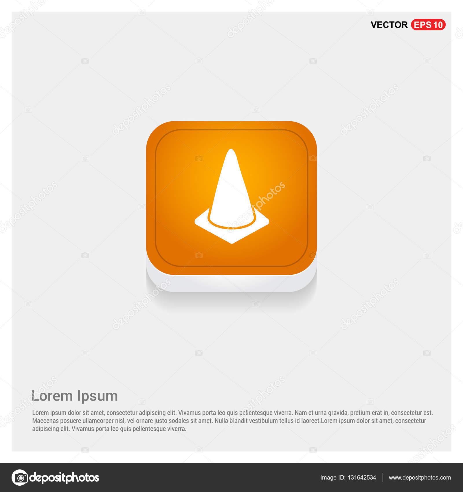 Football Training Cone Icon Stock Vector Ibrandify 131642534