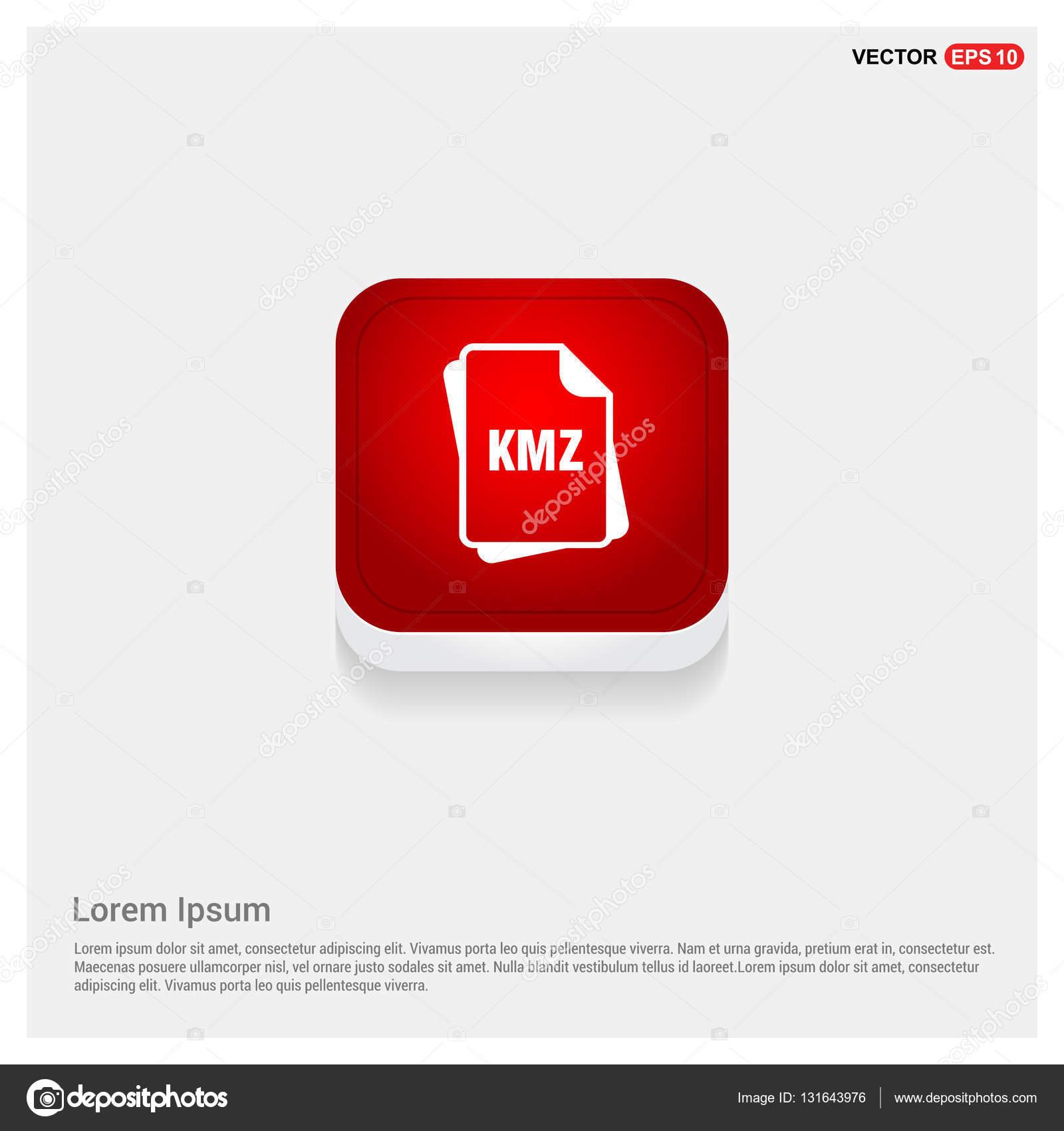 KMZ file format icon — Stock Vector © ibrandify #131643976