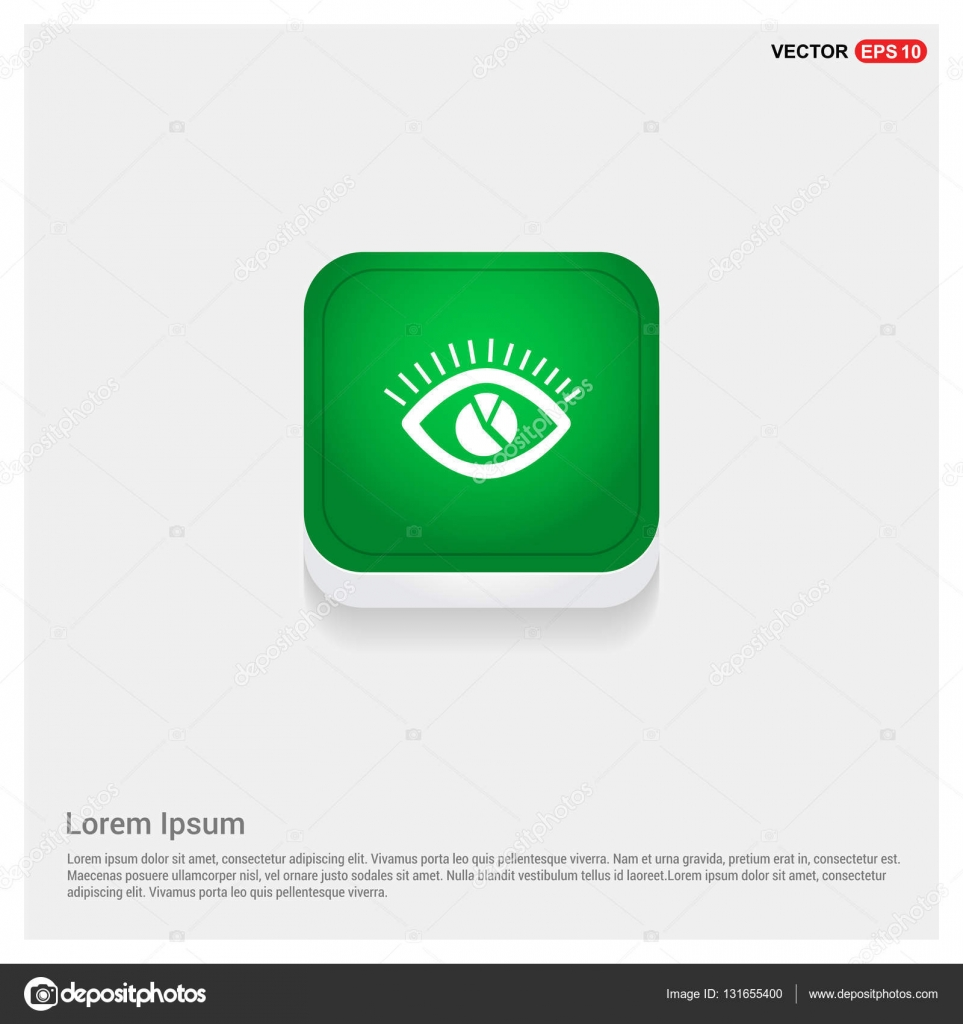 ojo humano con el icono del diagrama de negocios — Vector de stock ...