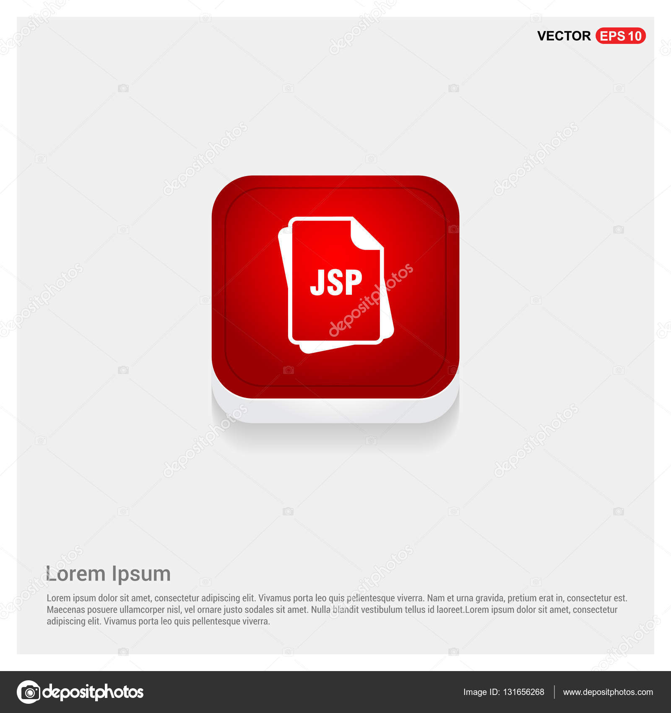 JSP file format icon — Stock Vector © ibrandify #131656268