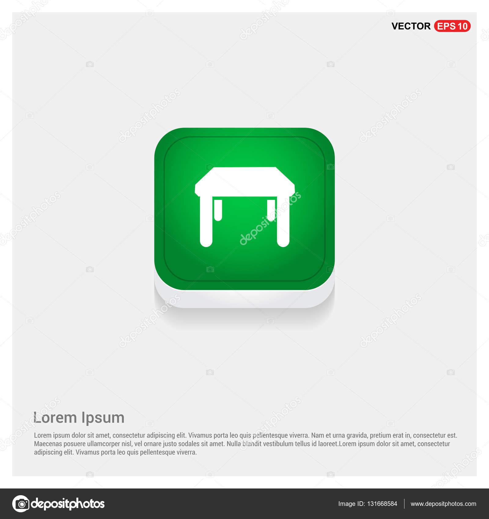 Küche-Tisch-Symbol — Stockvektor © ibrandify #131668584