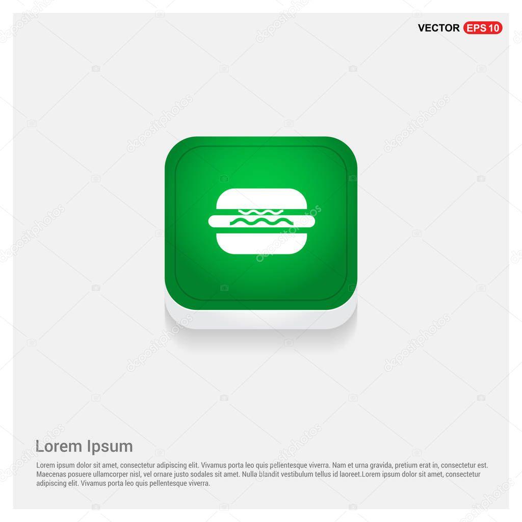 Fast food, hamburger icon