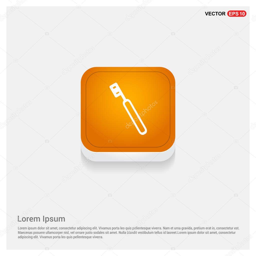 Dental sickle probe tool icon