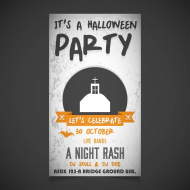 invitation on halloween party, greeting card