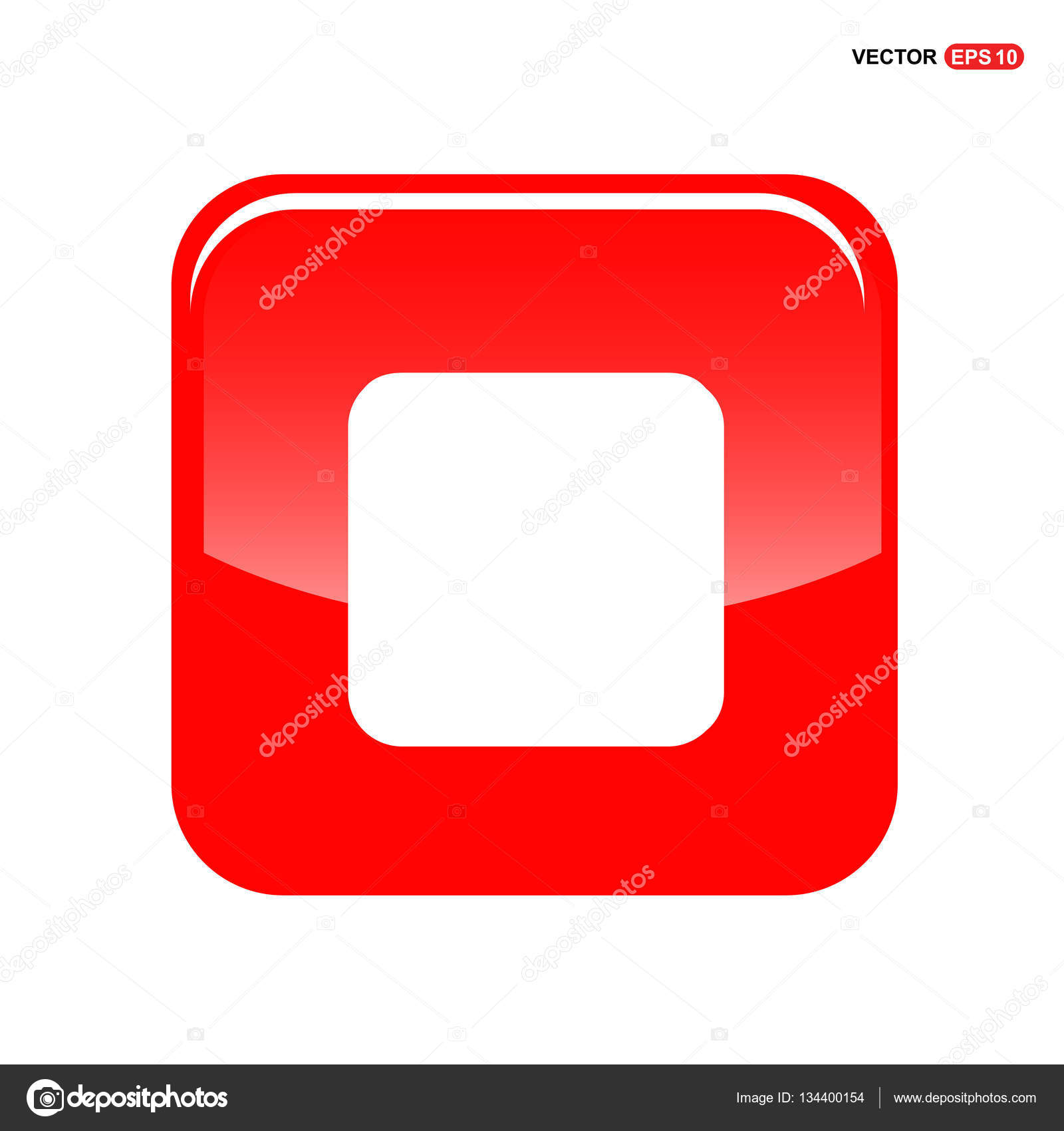 Stop button icon — Stock Vector © ibrandify #134400154