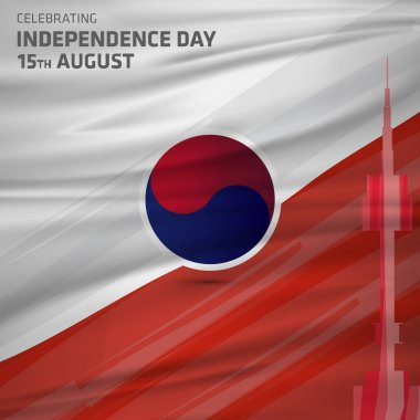 South Korea Independence Day card