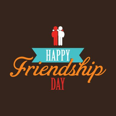Happy friendship day card, vector illustration clip art vector