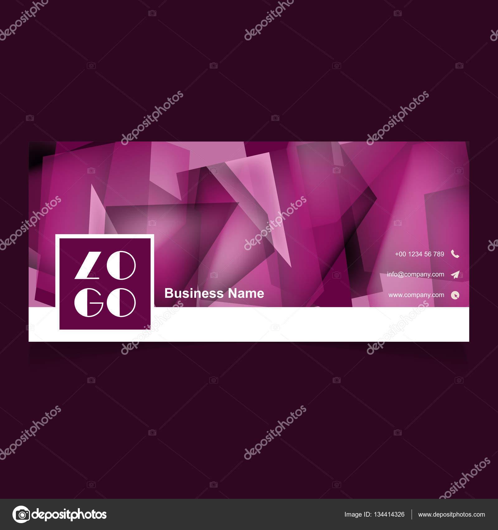 Stilvolle horizontale Visitenkarte Vorlage — Stockvektor © ibrandify ...