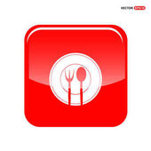 ikona červeného tlačítka