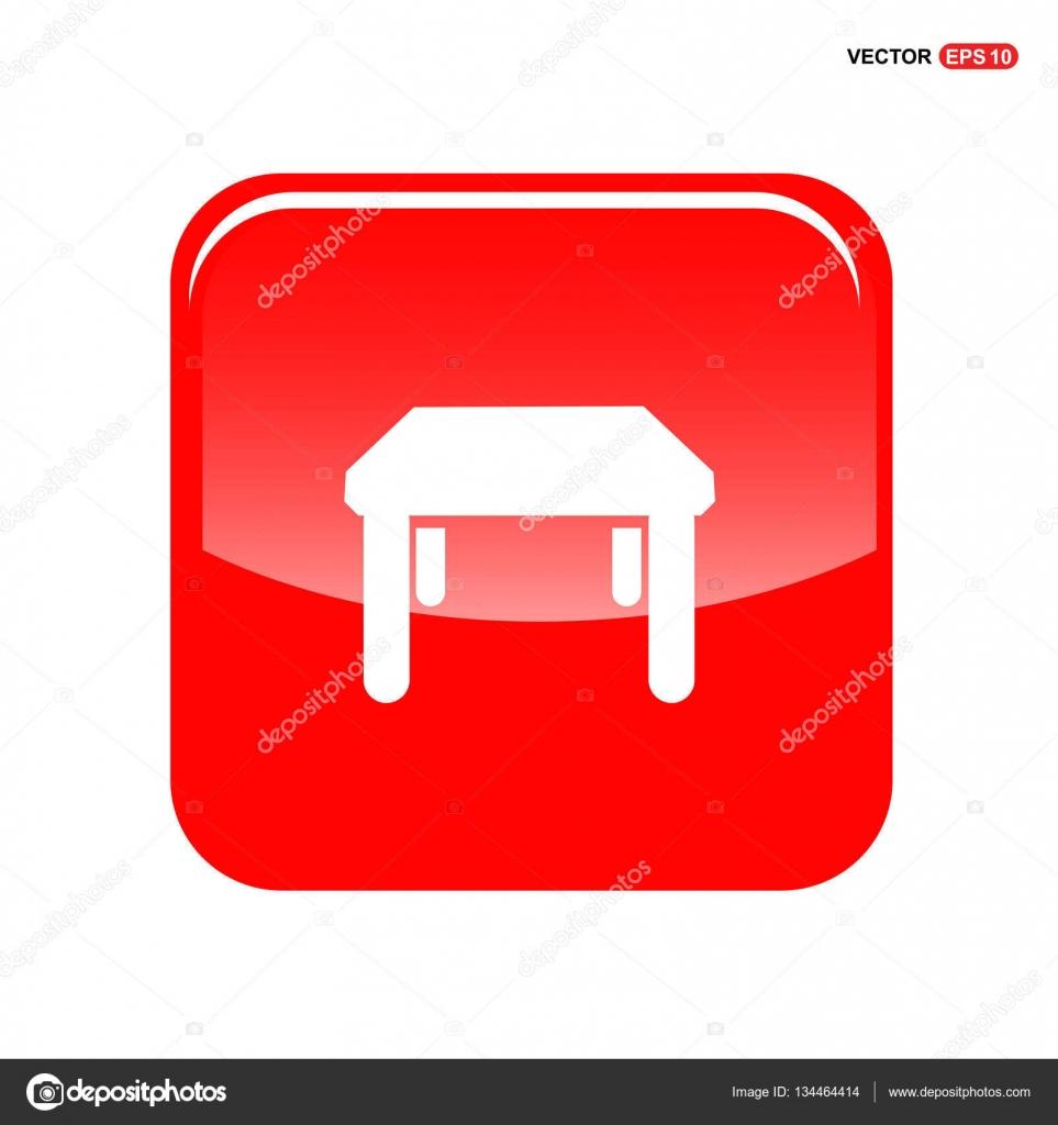 Küche-Tisch-Symbol — Stockvektor © ibrandify #134464414