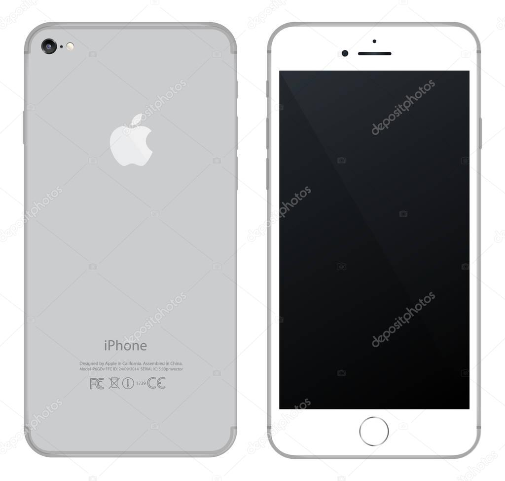 iphone mockup front, side and back