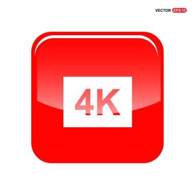 4K video resolution icon