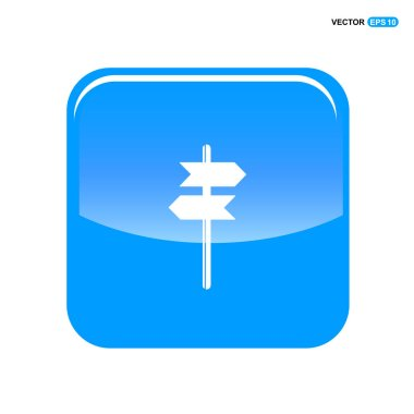 signpost icon, flat design