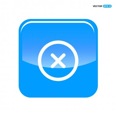 Delete icon with Cross sign