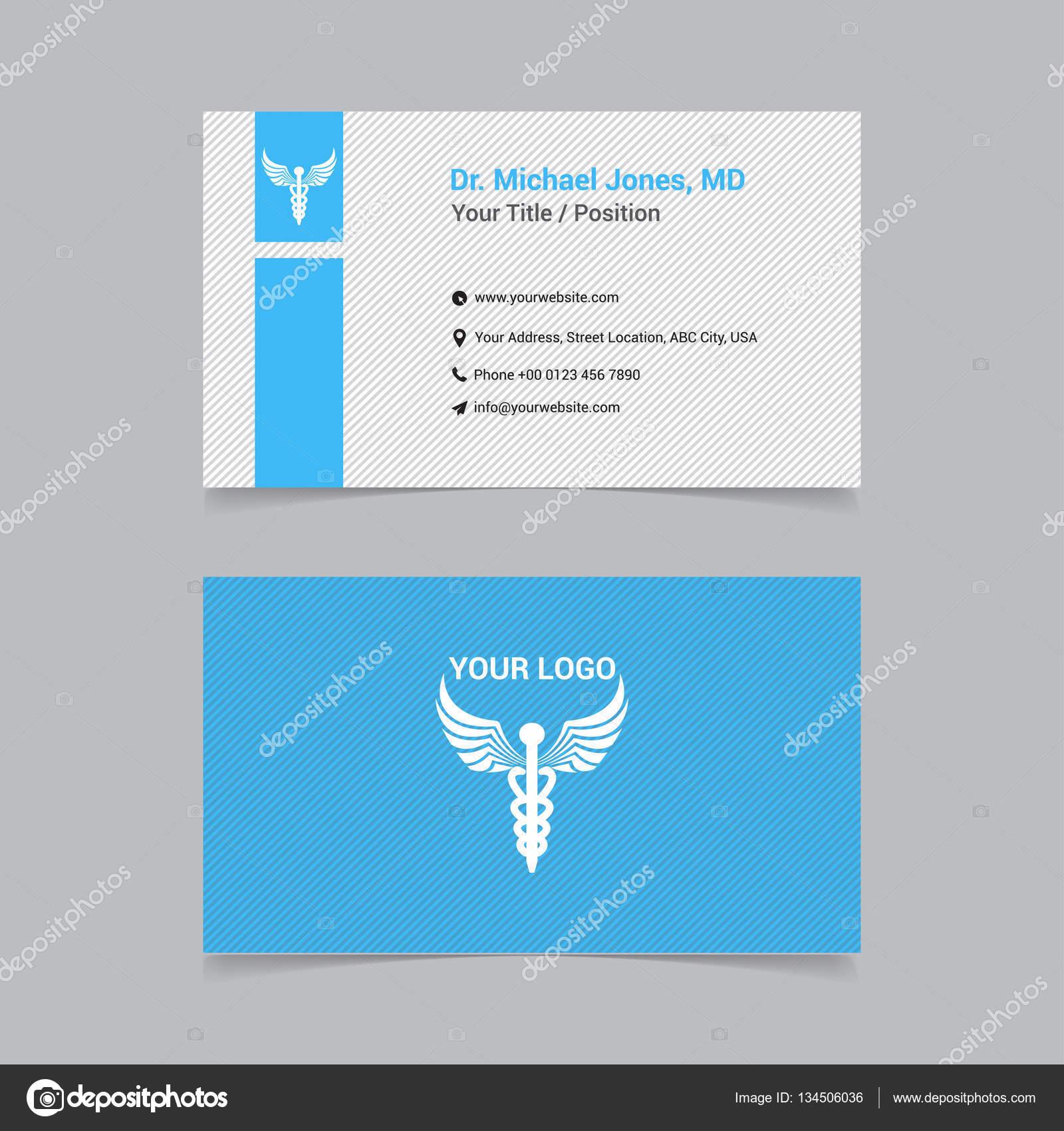 tarjetas de presentacion doctor elegante tarjeta de visita