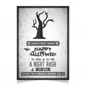 Photo invitation on halloween party, greeting card