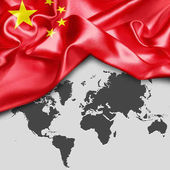 Photo waving flag of China