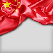 waving flag of China
