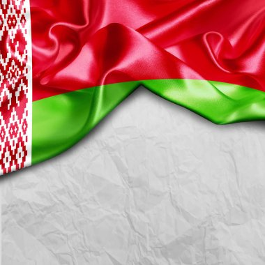 waving flag of Belarus